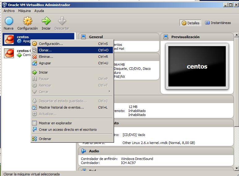 virtualbox.Clonando maquinas