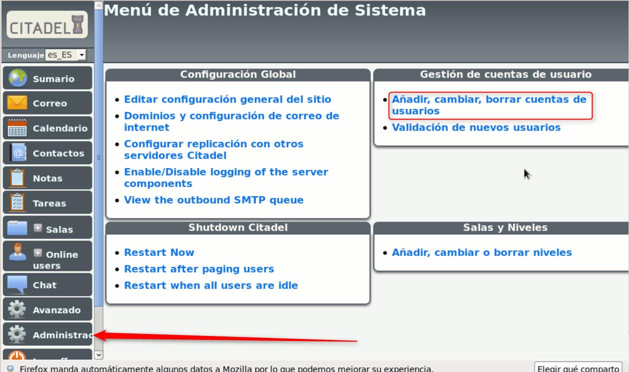 Citadel-Administracion usuarios