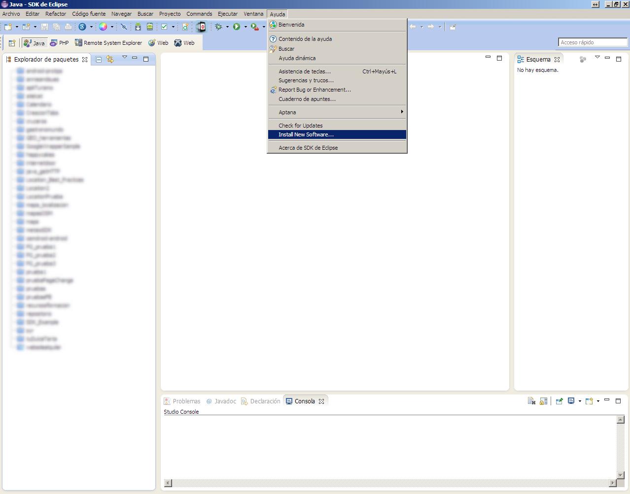 Eclipse-Añadir software